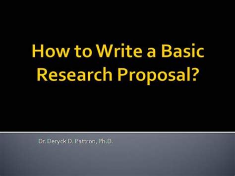 Picture of a research proposal letter